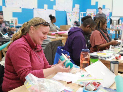 educator making in workshop