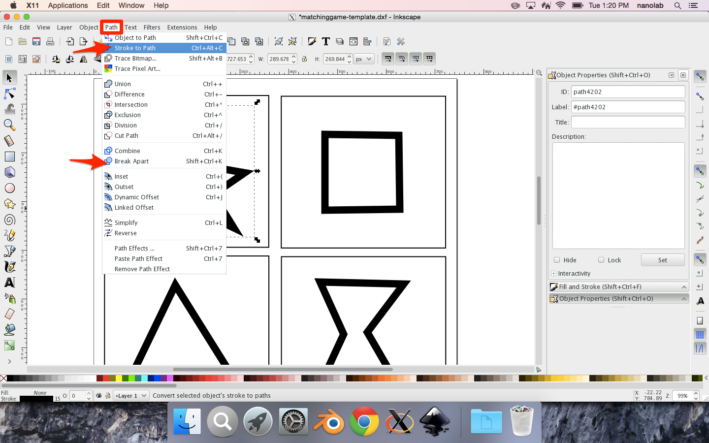 step4 transform drawings to paths