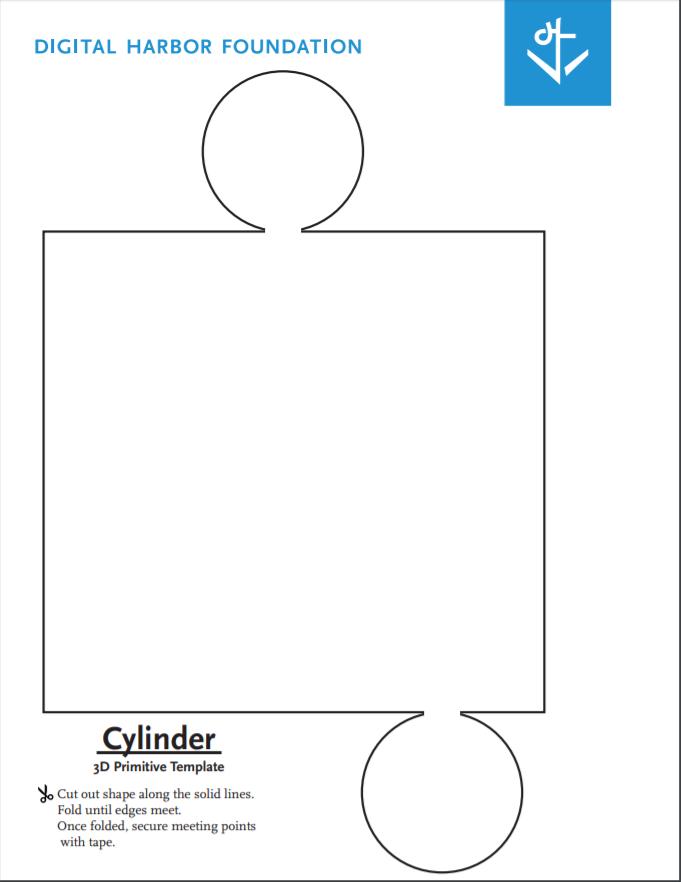 cylinder primitive template blueprint by digital harbor foundation. Black Bedroom Furniture Sets. Home Design Ideas
