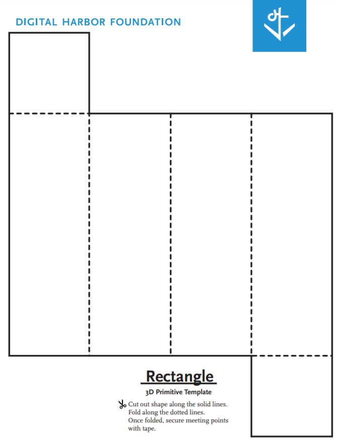 Rectangle primitive template blueprint by digital harbor for Paper stomp rocket template