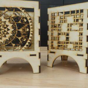 makerettes be the light closeups of wooden lanterns