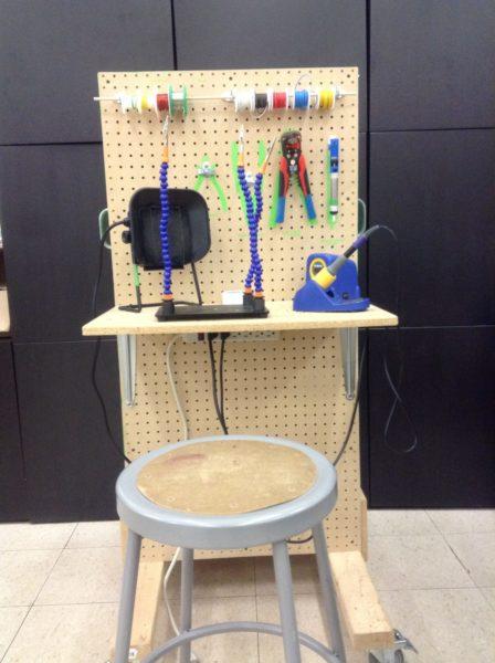 Custom made soldering cart for youth soldering